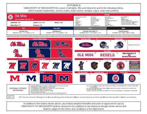 ole miss colors contractual services management licensing