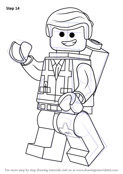 coloring pages lego movie emmet learn how to draw emmet brickowski from the lego movie