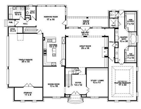 653921 Two Story 4 Bedroom 3 5 Bath French Style House House Plans Two Story 4 Bedrooms