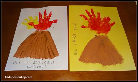 volcano craft for print volcano card all done monkey
