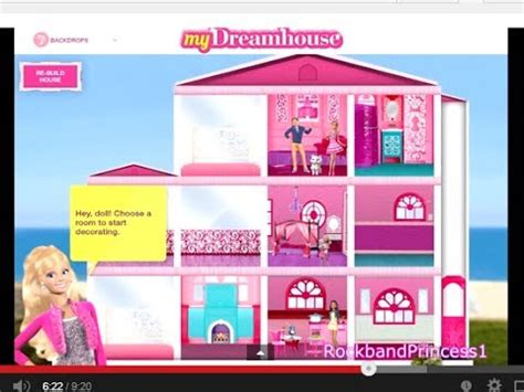 design a dream house game barbie life in the dreamhouse barbie games for girls and kids youtube