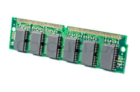 ram stick one ddr ram stick isolated on white background stock