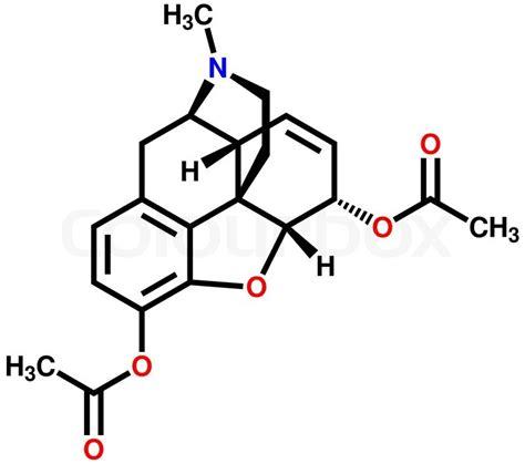 Methadone Detox Formula by Heroin Structural Formula Stock Vector Colourbox