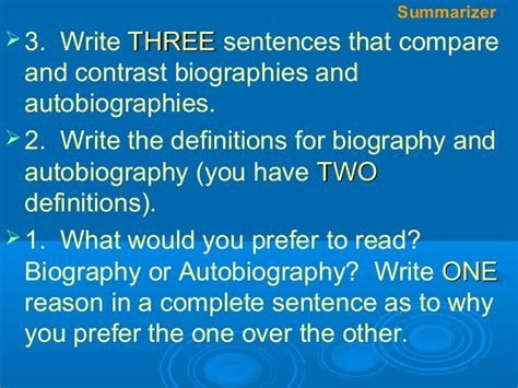biography text structure text structure l4 autobiography v biography
