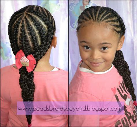 image of cornrow styles for kids cornrow back ponytail kids hairstyles pinterest