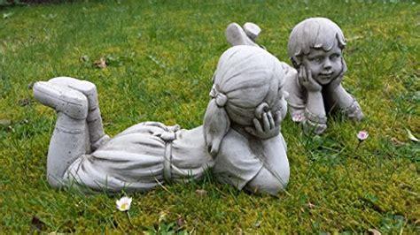 statue in gesso da giardino statuette di bambino e bambina statuette di gesso