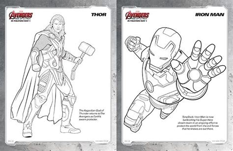 kids printables marvels  avengers age  ultron