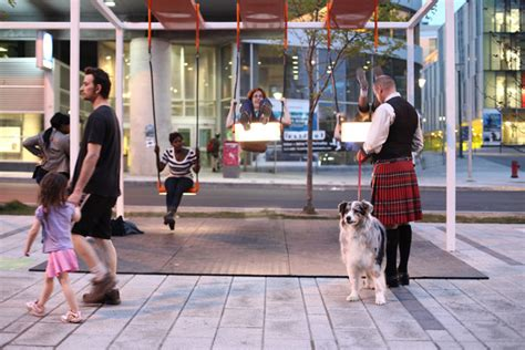 swing montreal musical light swings on the streets of montreal colossal