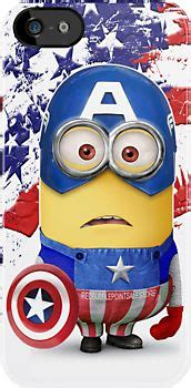 Despicable Me Captain America Minion V1479 Iphone 5 5s Se Casing Pr quot superheroes with shield apple iphone 5 iphone 4 4s iphone 3gs ipod touch 4g