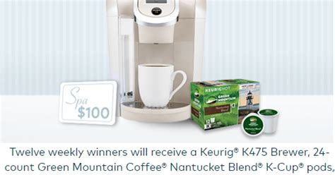 Spafinder Gift Cards Walgreens - coupons and freebies keurig coffee k cup brewer prize pack giveaway 12 winners