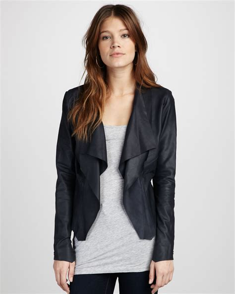 draped leather jacket bod christensen draped leather jacket