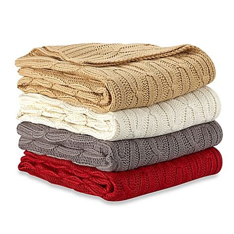 bed bath and beyond throws acrylic cable knit throw bed bath beyond