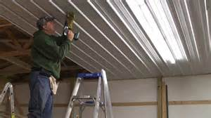 cost to install drywall ceiling pole barn menard s pro rib steel ceiling install with