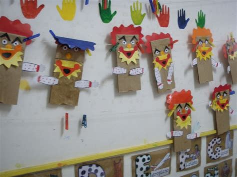 Paper Bag Arts And Crafts - clown paper bag puppets arts and crafts