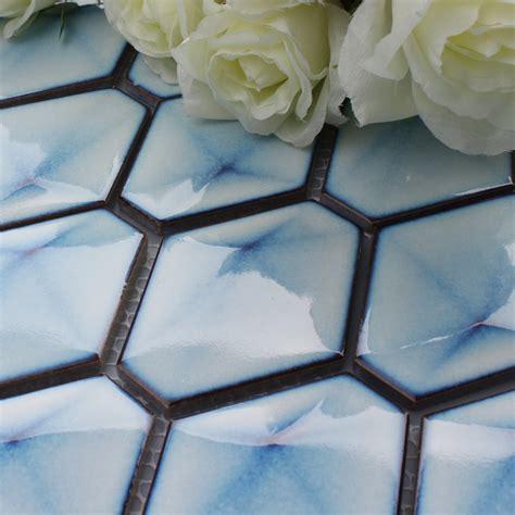 porcelain tile mosaic tiles glazed ceramic tile bathroom blue porcelain tile hexagon glazed mosaic kitchen and