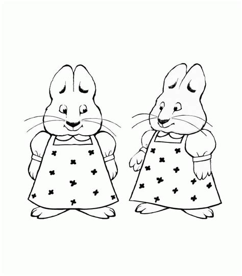 max and ruby coloring pages coloringpagesabc com