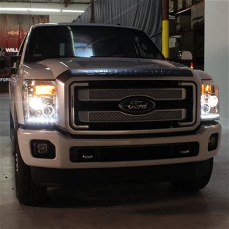 2012 f250 headlights 2014 ford f250 duty smoked halo projector headlights