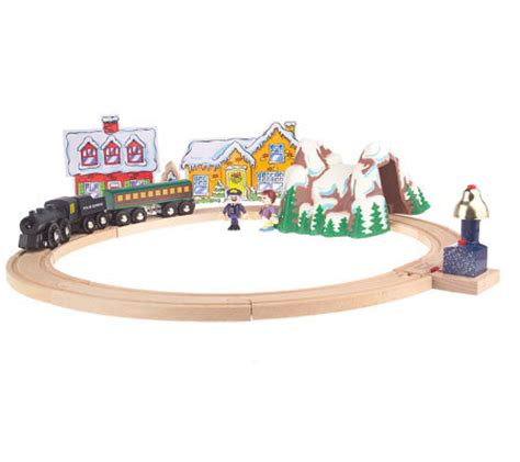 brio polar express wooden train quot the polar express quot wooden railway set by brio qvc com