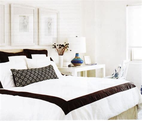 white comforter with black border white and blue border bedding design decor photos