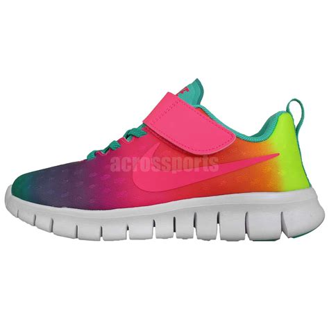 rainbow nike sneakers nike free express psv run rainbow gradient preschool
