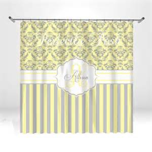 personalized yellow and gray damask shower by itsperfectlyposh