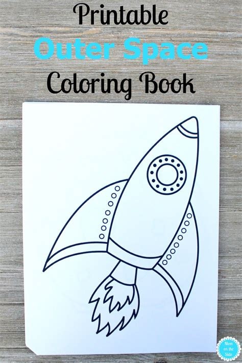 printable coloring book printable outer space coloring book on the side