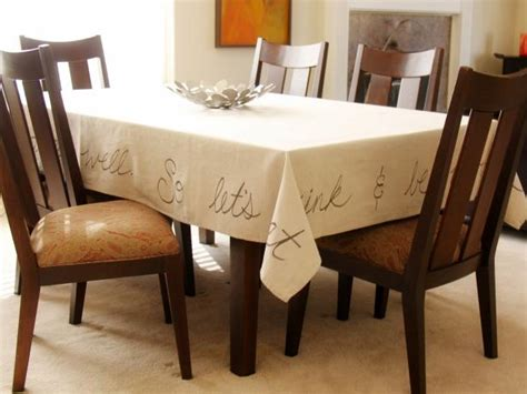 Tablecloth For Oval Dining Table How To Make A Handwritten Tablecloth How Tos Diy