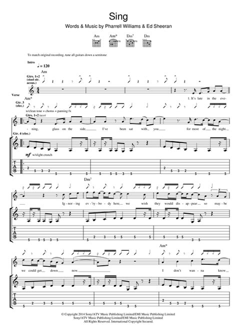 ed sheeran easy chords sing guitar tab by ed sheeran guitar tab 118908