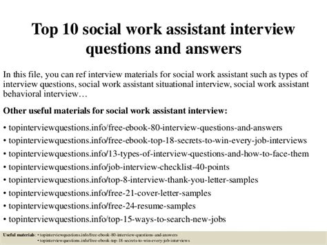 Chemical Engineering Mba Questions by Top 10 Social Work Assistant Questions And Answers