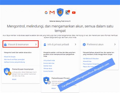 email pemulihan cara membuat setting email pemulihan akun google