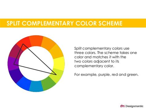 split complementary color scheme split complementary color scheme split
