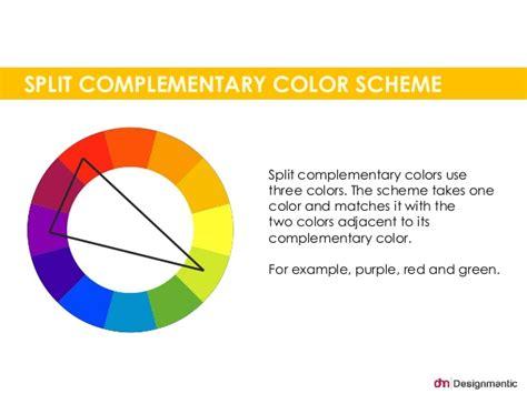 split complementary color scheme split