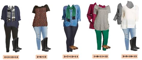 plus size mix and match winter plus size capsule wardrobe from target