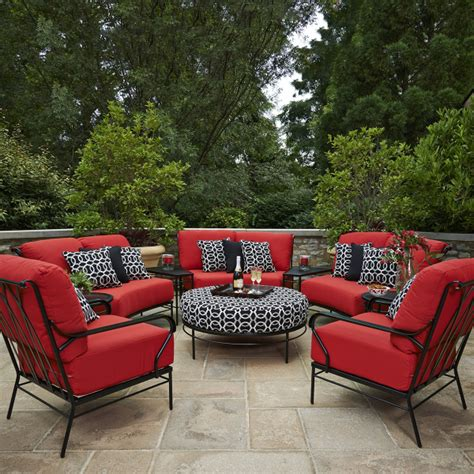Seating Patio Furniture Cove Seating Collection By Meadowcraft Timeless
