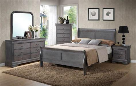 Rustic Grey Bedroom Set by Unique Rustic Grey Sleigh Bedroom Set King 7pc Set 699