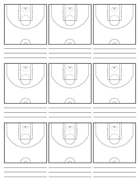 7 best images of basketball court diagrams for plays