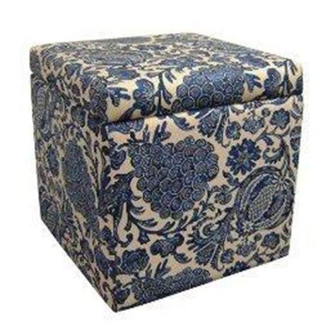 blue ottoman target cube storage ottoman batik blue target