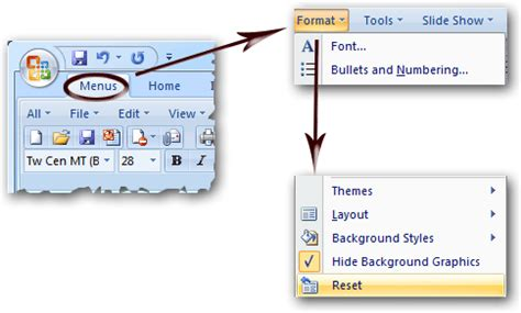 design menu slide where is the slide design in microsoft powerpoint 2007