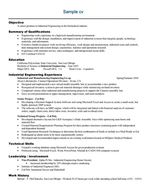 resume formats for engineers free sle engineering resume exle