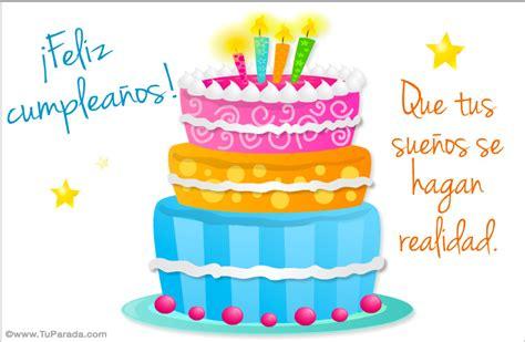 imagenes de cumpleaños y pastel postal de cumplea 241 os con pastel cumplea 241 os tarjetas