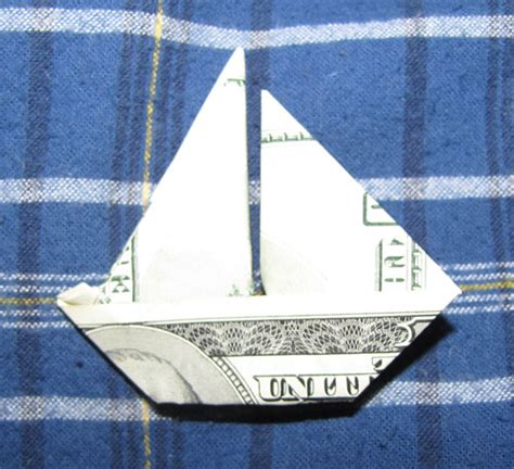 Dollar Bill Origami Boat - money origami boat