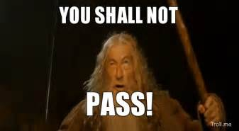 You Shall Not Pass Meme - french the flying faux pas