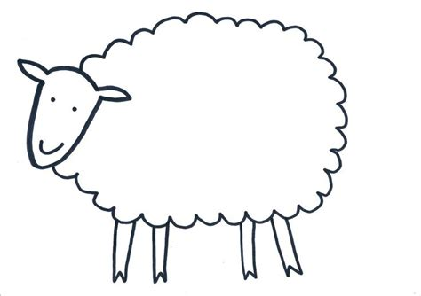 printable sheep template large sheep outline printable pictures to pin on