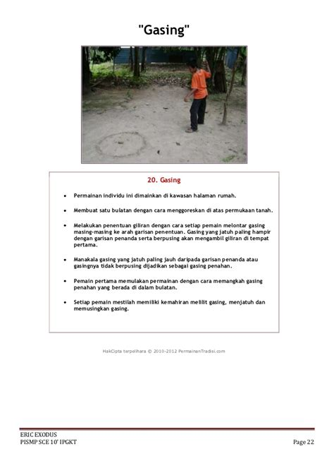 teks prosedur membuat gasing tradisional permainan tradisional malaysia