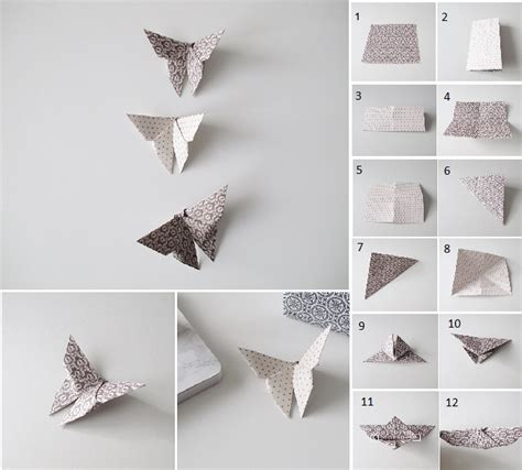 Folded Paper Butterflies - learn how to fold butterflies out of paper goodiy