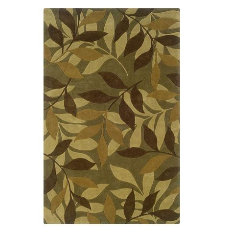 Brown And Green Area Rugs by Linon Home Decor Trio Collection Green And Brown 5 Ft X 7