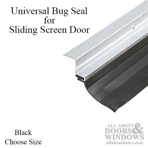 How To Seal Sliding Glass Doors Universal Fit Bug Seal For Sliding Screen Door 7 Or 8 Black