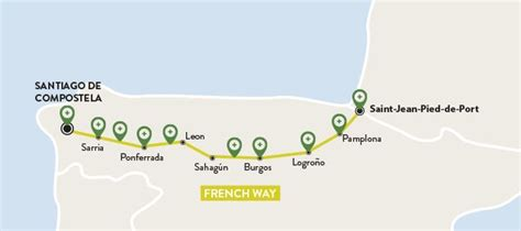 camino way map 17 best images about camino de santiago on