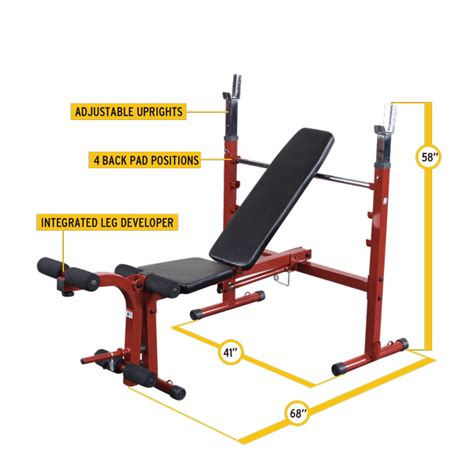 body solid powercenter combo bench bfob10 best fitness olympic bench body solid fitness