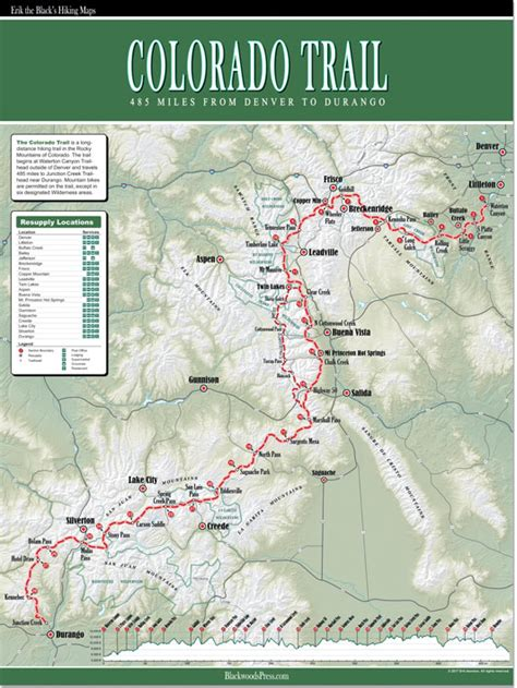 hang him the trail west books the colorado trail wall map blackwoods press